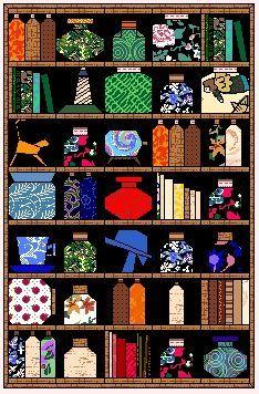 Jar Quilt Bookshelf