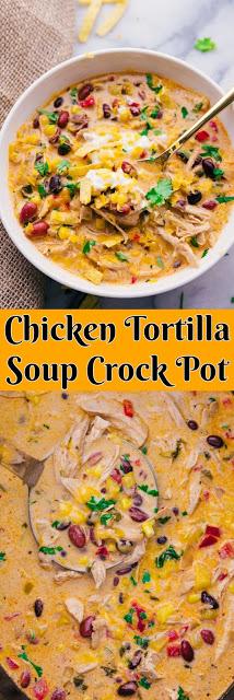 Chicken Tortilla Soup Crock Pot - BururiS #chickentortillasoup