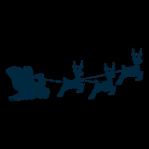 Santa Claus Sleigh Sledge Deer Silhouette Ad Ad Sponsored Sleigh Silhouette Deer Claus Deer Silhouette Santa Claus Silhouette Png
