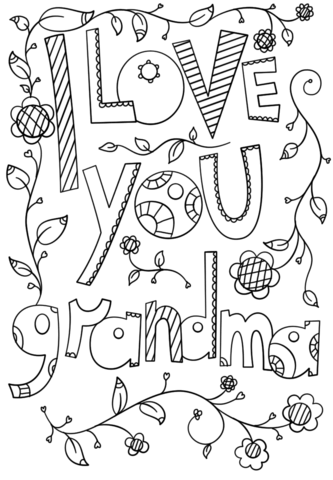 Click To See Printable Version Of I Love You Grandma Doodle Coloring Page Heart Coloring Pages Mothers Day Coloring Pages Birthday Coloring Pages