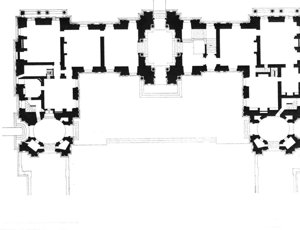 Ch teau de maisons laffitte floor plan of the ground for Architecte maisons laffitte
