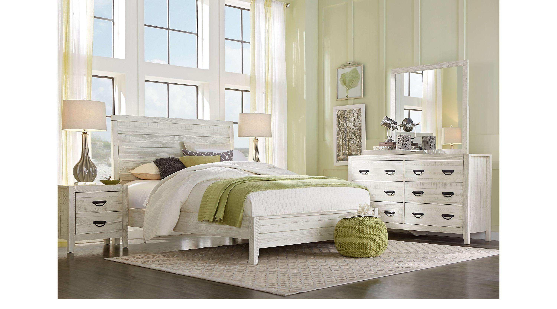 Palm Grove White 5 Pc King Panel Bedroom Master Bedroom King
