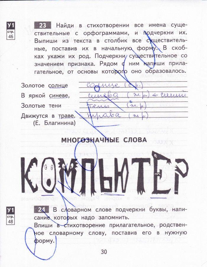 Контрольные диктанты 4 класс 2 четверть байкова русский язык