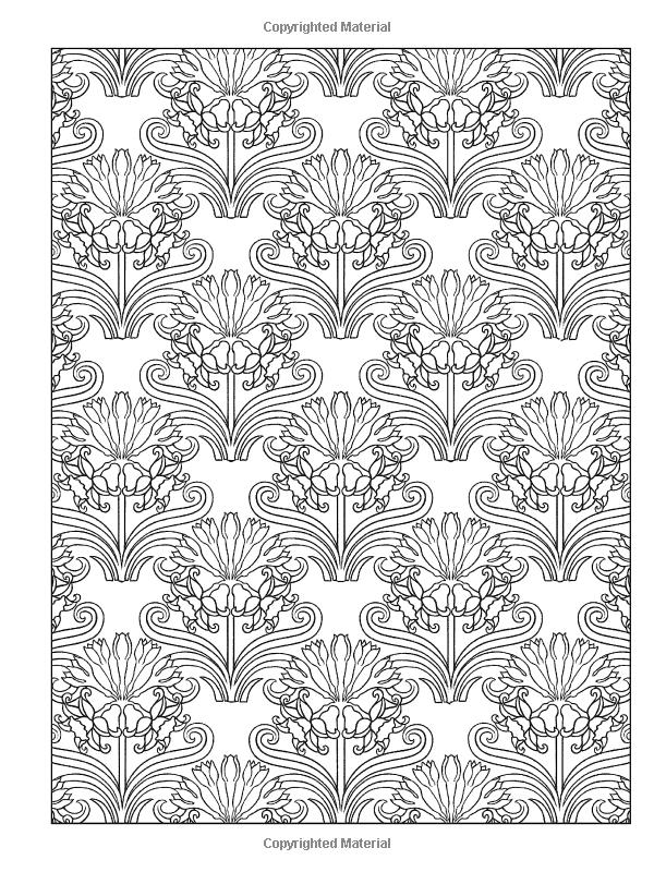 Creative Haven Art Nouveau Patterns Coloring Book Books Marty Noble 9780486493114 Amazon