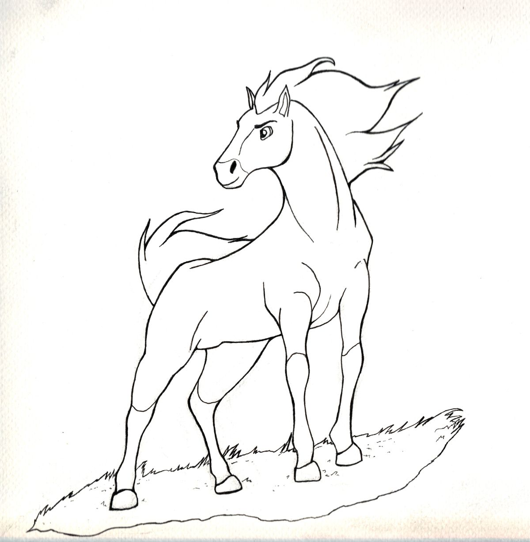 spirit stallion of the cimarron  how to draw  art dessin