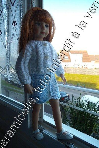 tuto gratuit poupée: jupe droite, base fantaisie tulipe