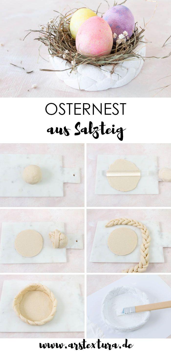 Osternest aus Salzteig basteln | ars textura – DIY-Blog