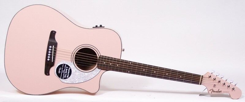 Fender Acoustic Electri Guitar Pink Google Search Fender Acoustic Semi Acoustic Guitar Guitar