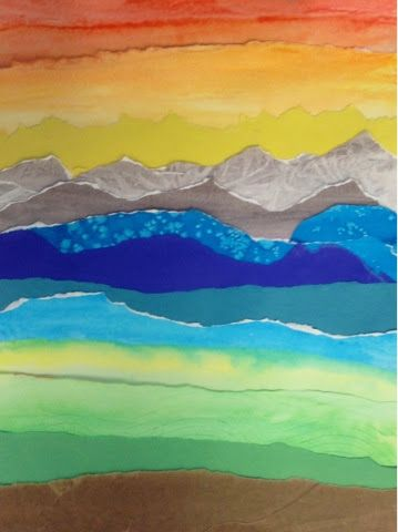 Art At Becker Middle School Watercolor Landscape Collages