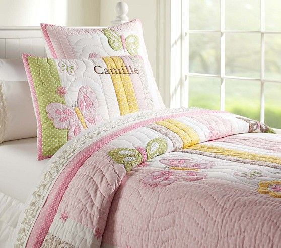 Pottery Barn Kids Camille butterfly twin quilt - Google Search ... : kids twin quilts - Adamdwight.com