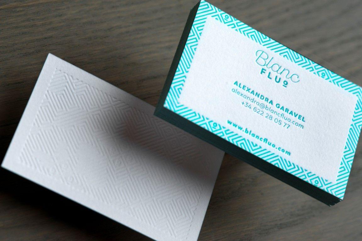 Carte De Visite Charge Peps Et Pop Imprime En Letterpress Avec Une Couleur Pantone Recto