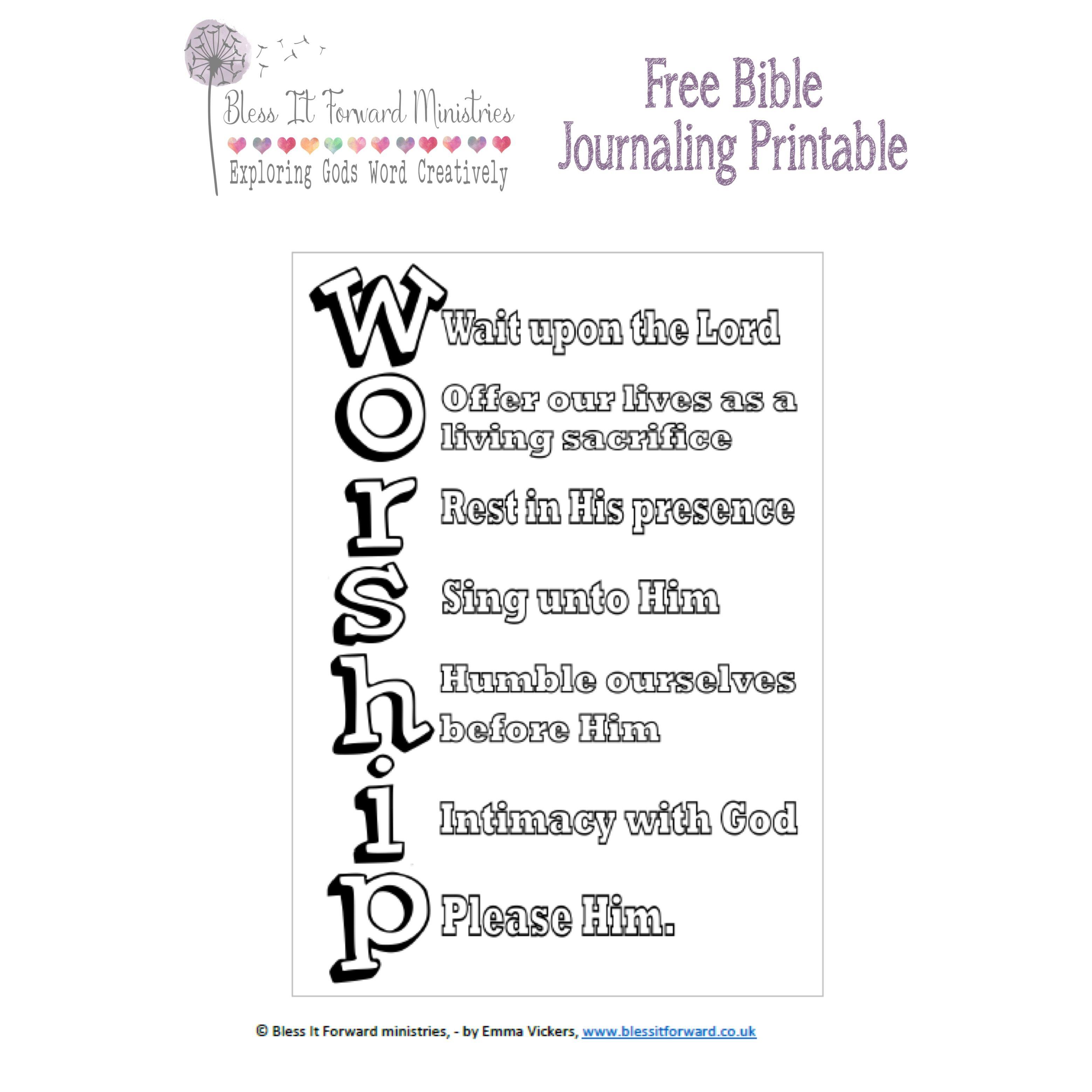Free Bible journaling printable      :-) | Bible journaling