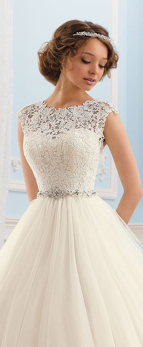 Junoesque tulle bateau neckline ball gown wedding dress future