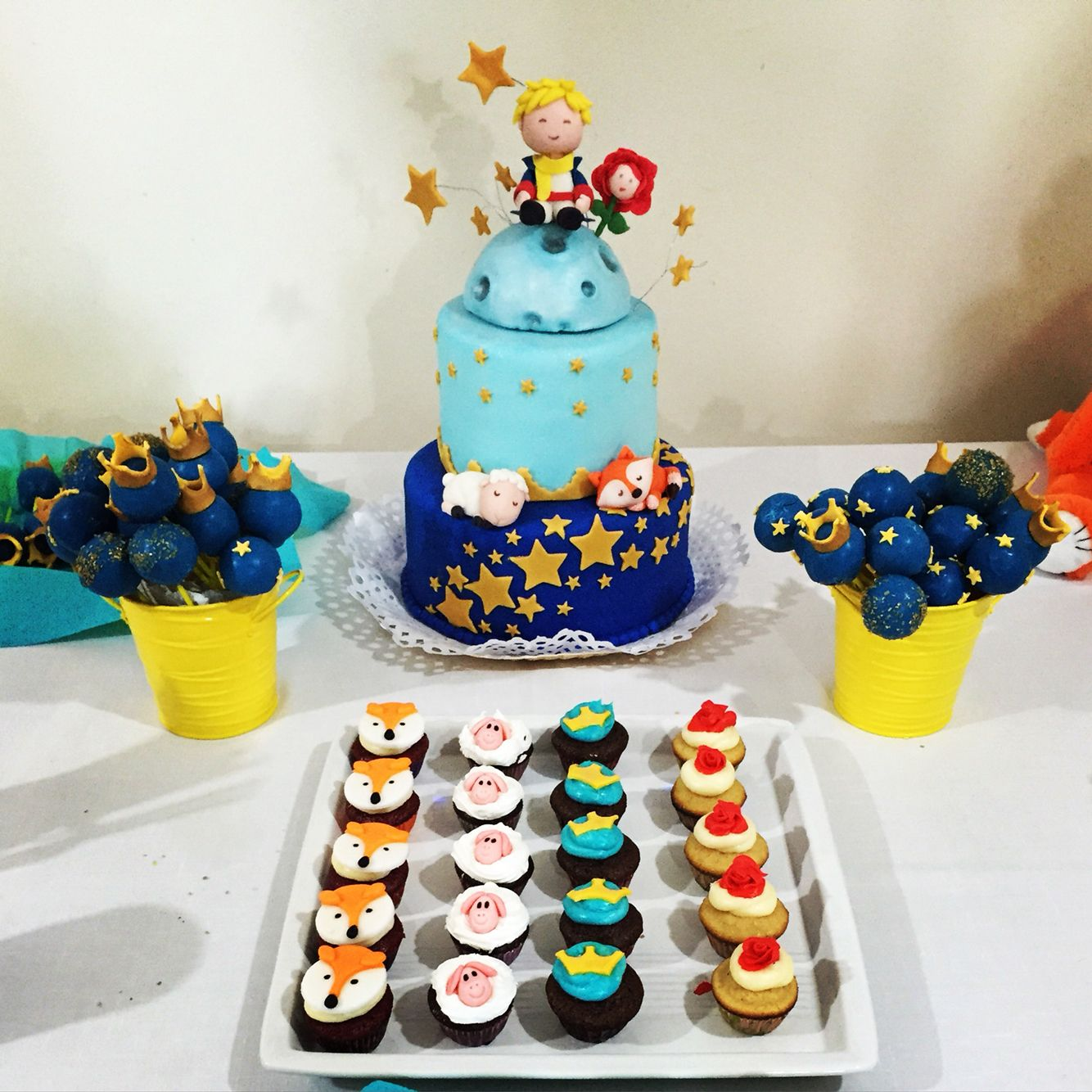 Baby Shower Principito Torta Cupcake Popcake The Little