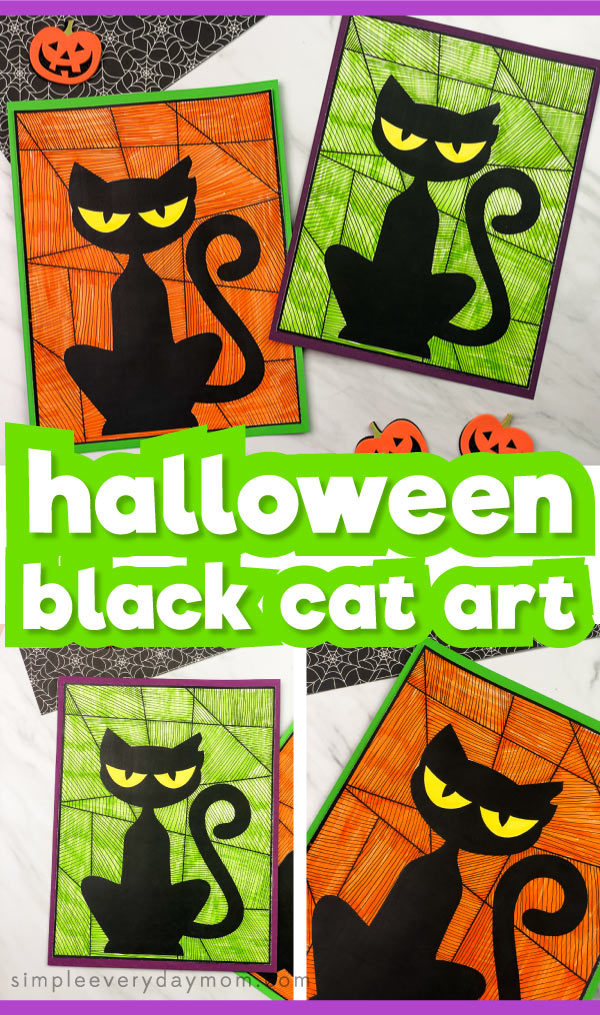 This easy black cat craft is a fun DIY Halloween activity