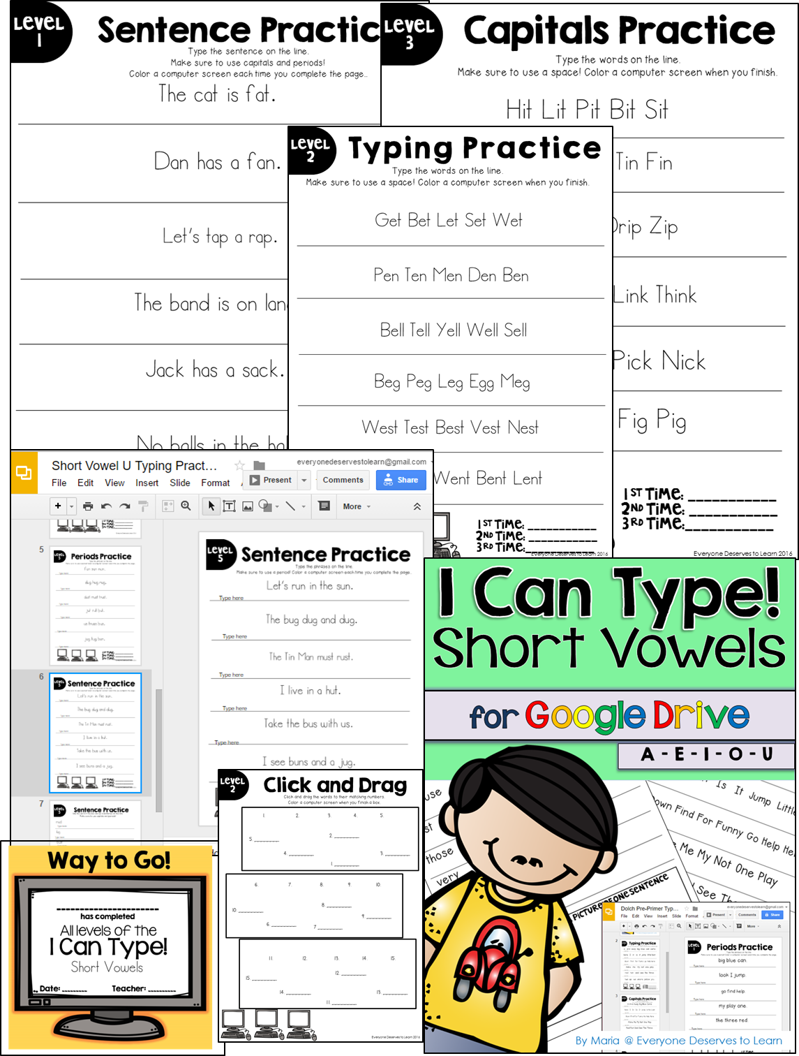 Short Vowels Typing Center Great For My Chromebooks