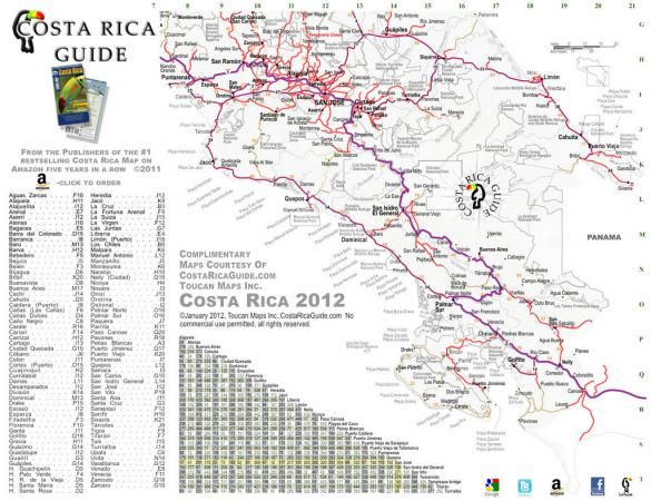 photo relating to Printable Map of Costa Rica titled Free of charge present-day and appropriate printable road and drive map
