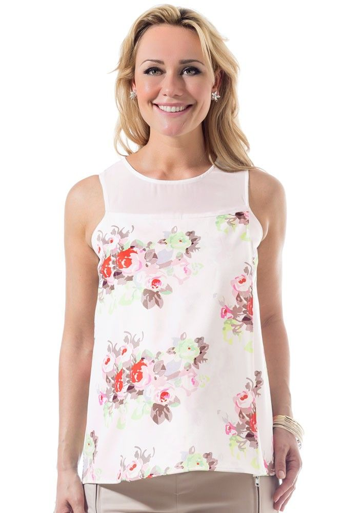 2fae1726e74 Caylee Back Overlap Woven Maternity   Nursing Top in Cream Floral. Please  use coupon code NewProducts to receive 15% off these items.