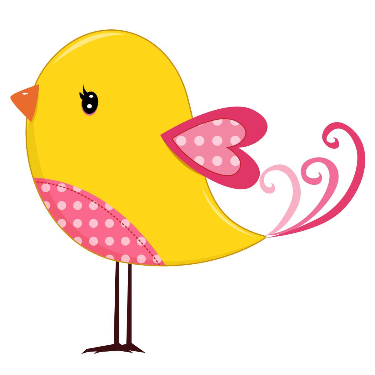 Pink And Yellow Birds Birds09 Png Minus Clipart Passaro Truques De Pintura Passaro Desenho