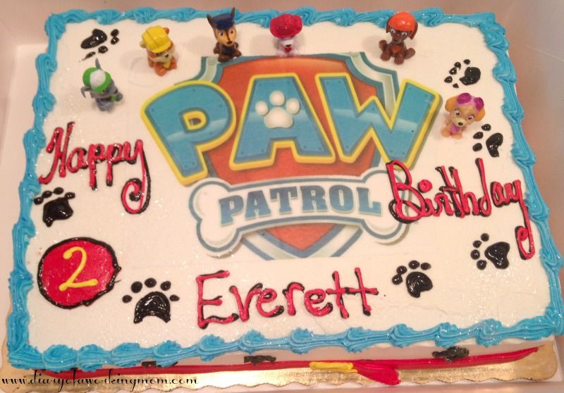 Everett S Paw Patrol Birthday Paw Ty Paw Patrol Birthday Cake