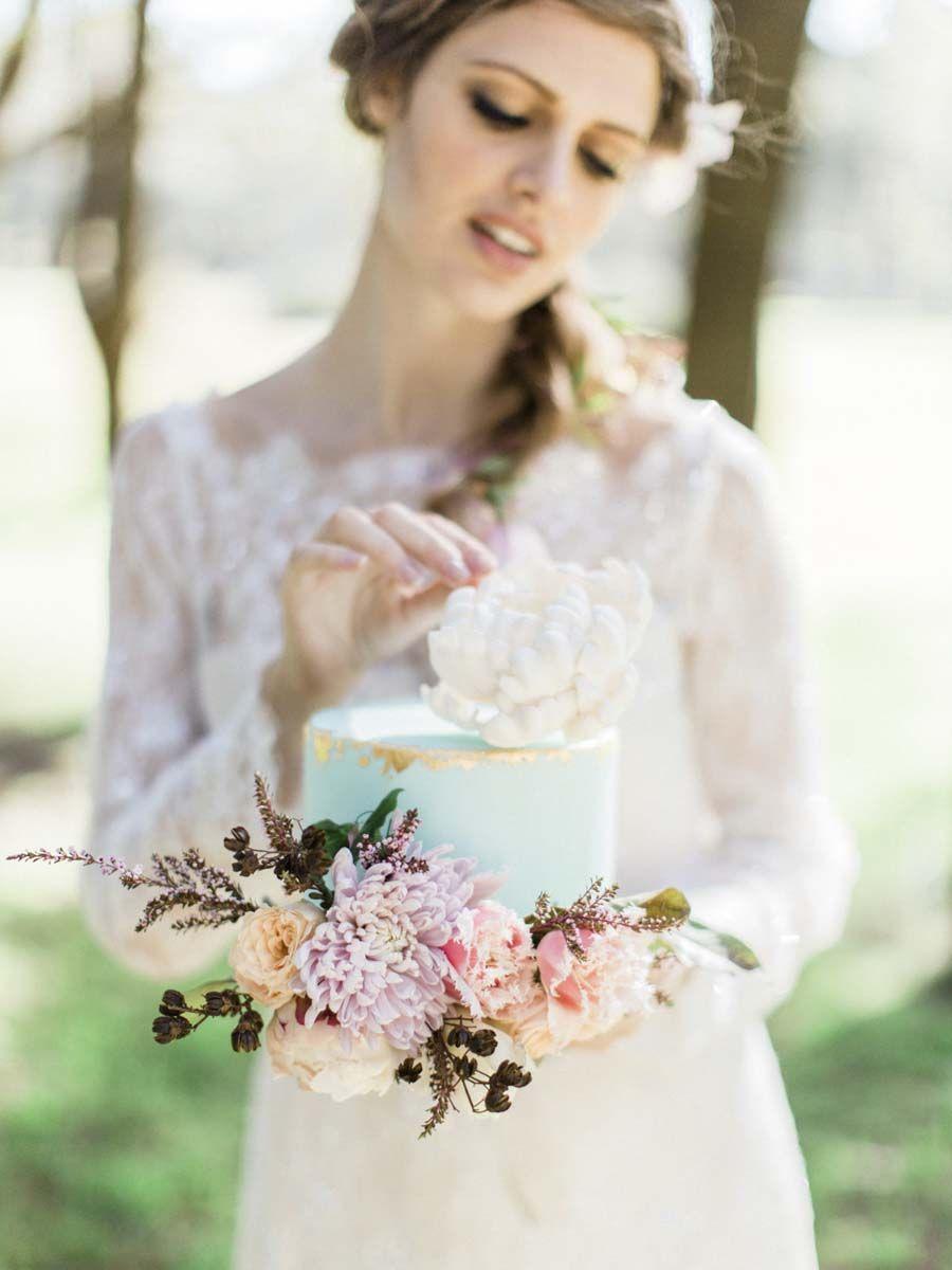 Windswept brideu a beautiful pastel bohemian styled wedding shoot