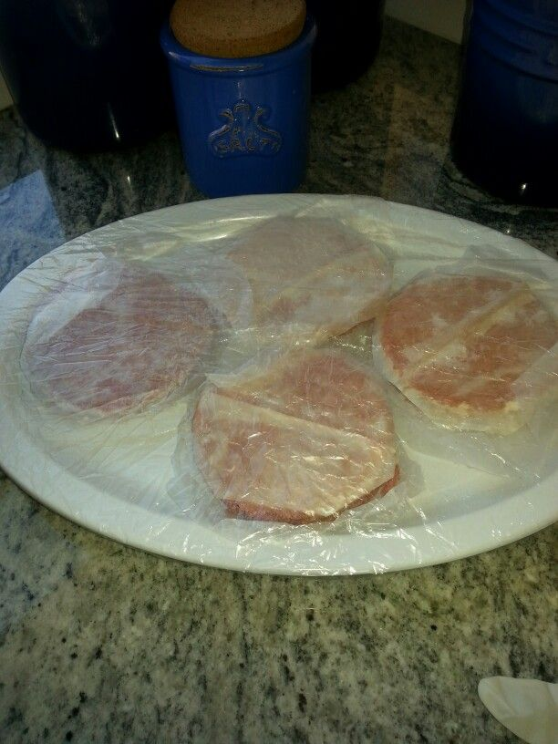 This meat is covered with a disposable shower cap  bought at a beauty store.
