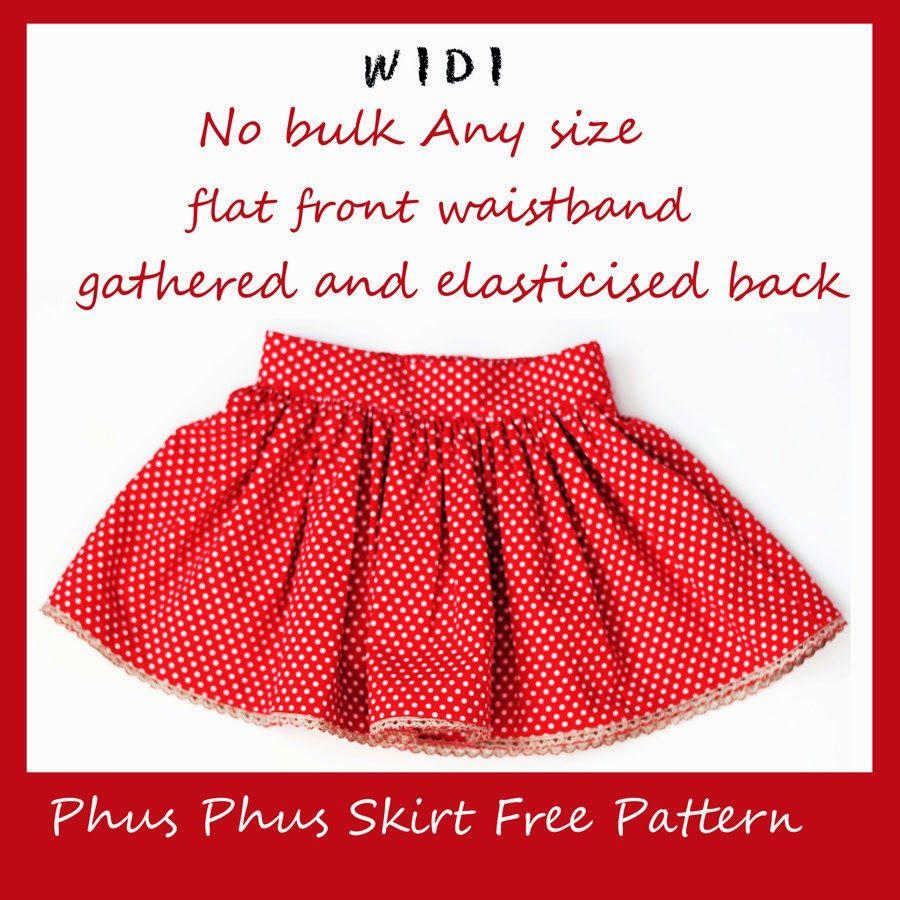 Free gathered skirt tutorial pattern - flat half front waistband ...
