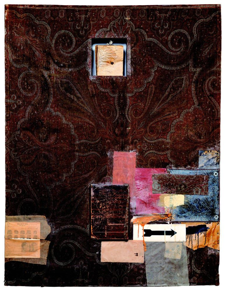 Robert Rauschenberg (American, 1925-2008). Hymnal, 1955. Combine painting. Sonnabend Collection, New York