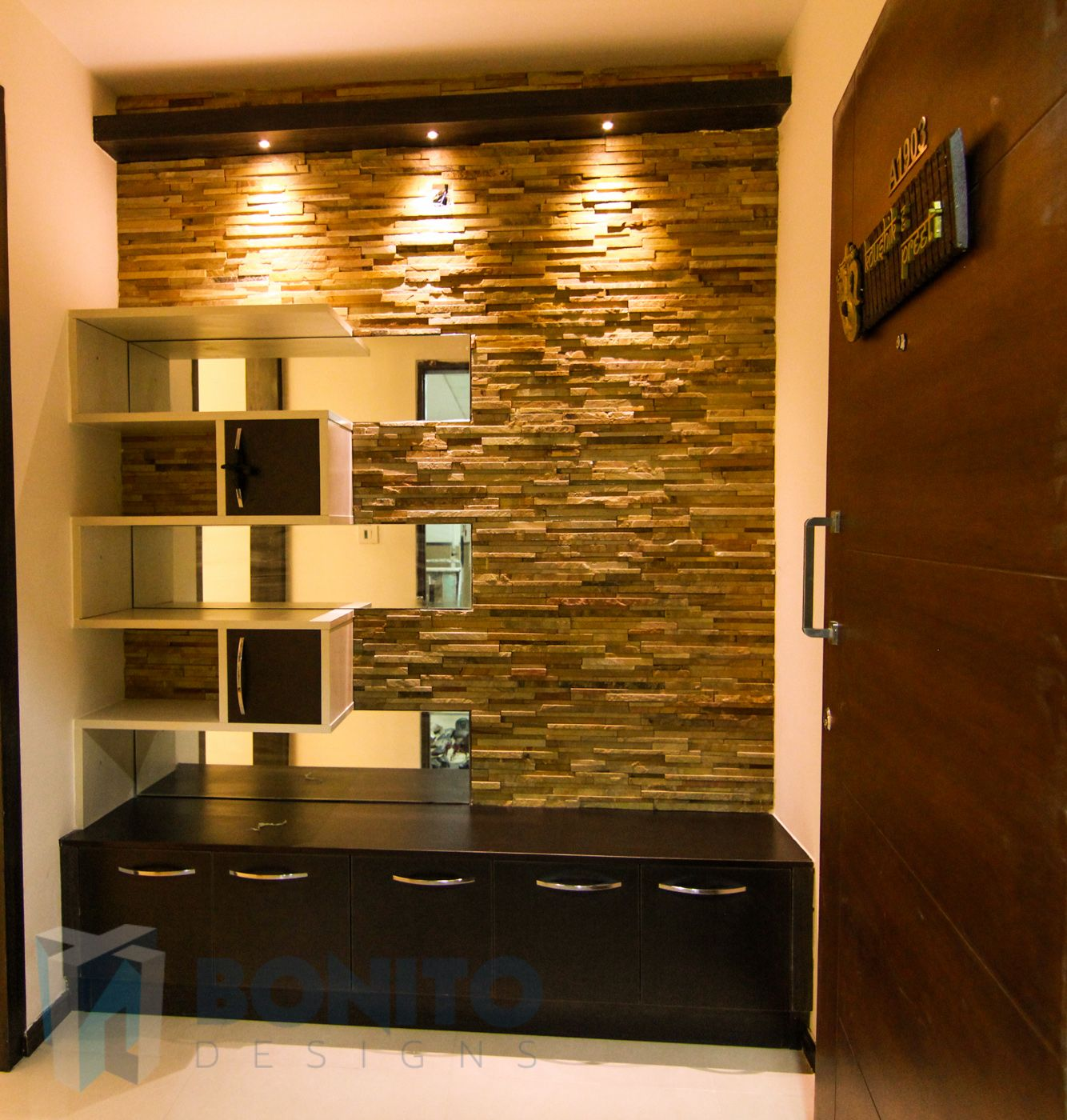Pin By Nikhil On Foyer Stone Cladding Home Interior