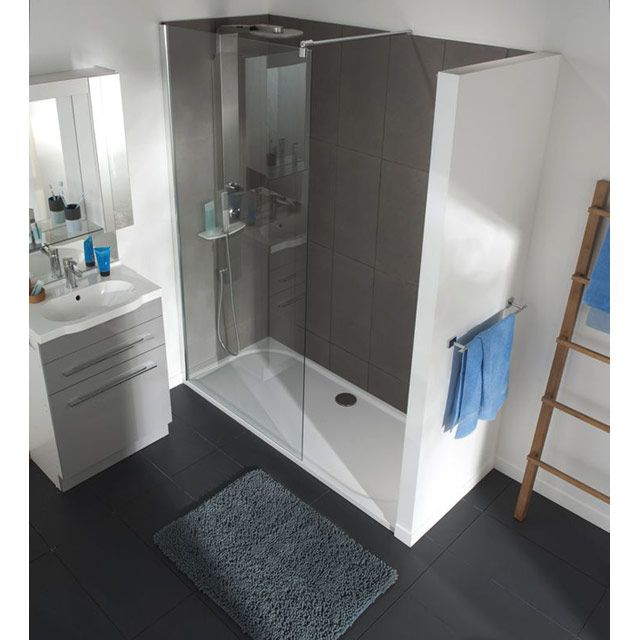 paroi de douche freestyle 100 cm transparent castorama sdb pinterest paroi de douche. Black Bedroom Furniture Sets. Home Design Ideas
