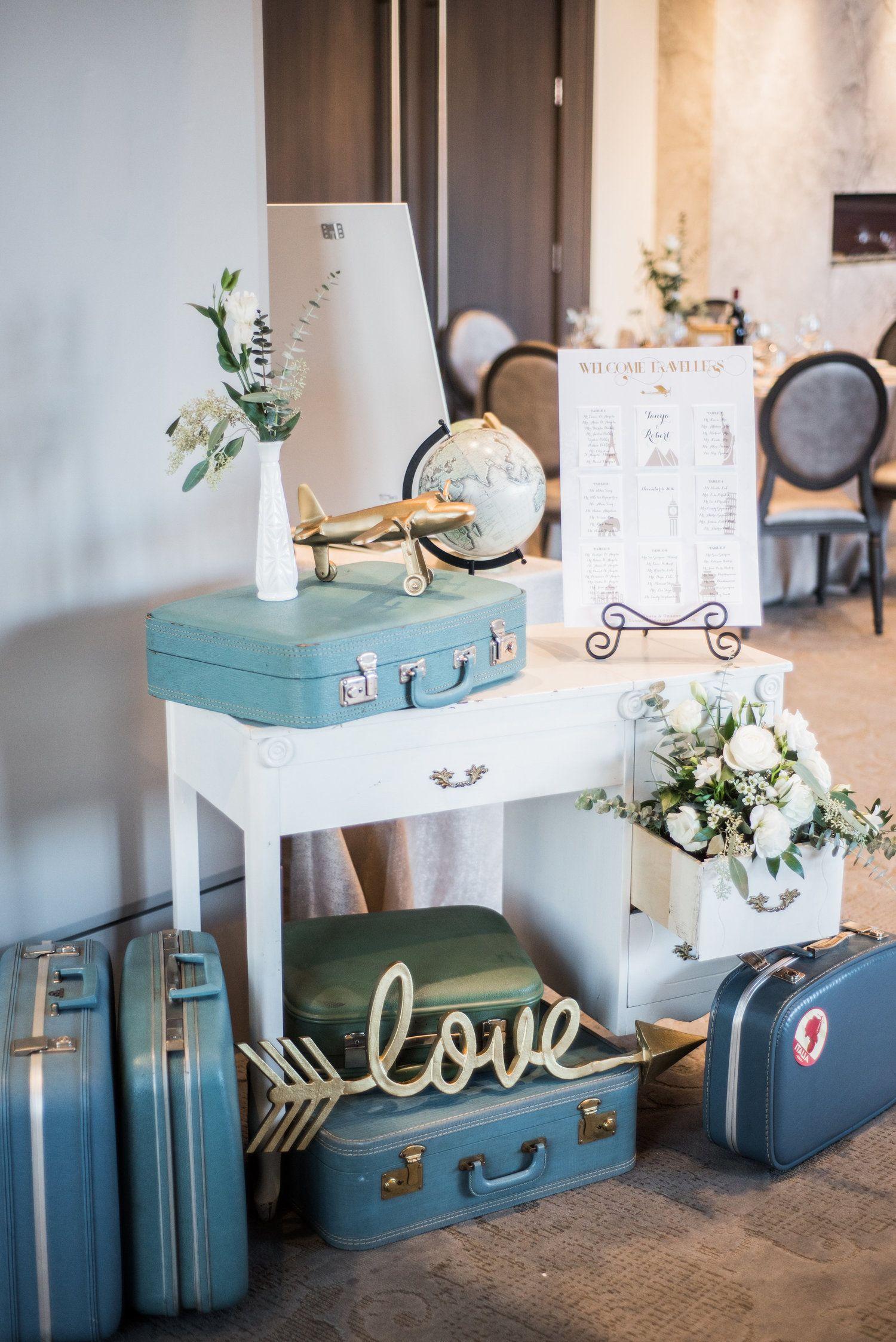 Vintage wedding decorations ideas november 2018 Vintage Travel Theme Party u Country Lane Floral Design u Vintage