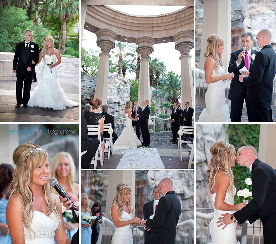 Las Vegas Wedding Photos, Mandalay Bay, Valley Of Falls