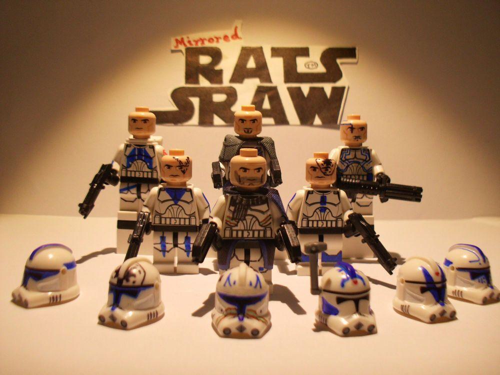 lego star wars minifigures - clone custom captain rex's 501st
