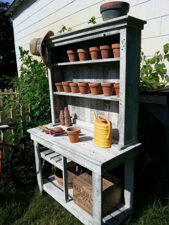 Outstanding Barn Wood Potting Bench Plant Stand Handmade Cedar Ibusinesslaw Wood Chair Design Ideas Ibusinesslaworg