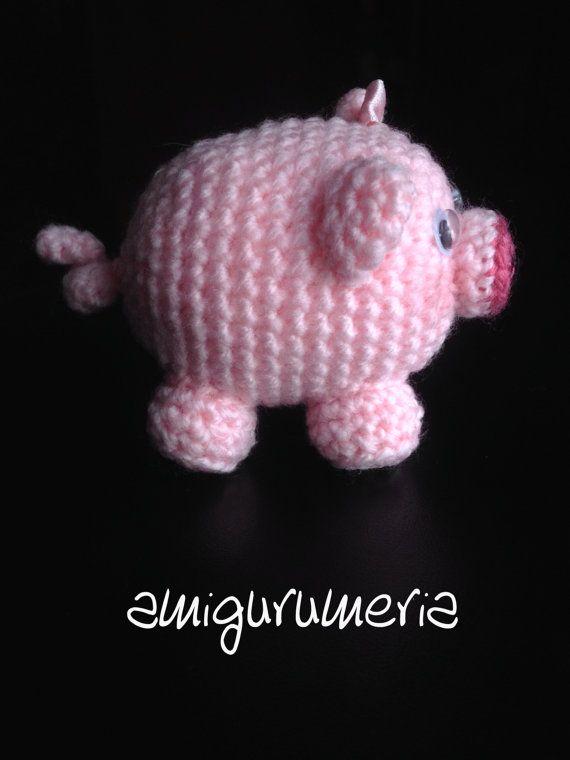 Piggy Piglet Pig Amigurumi Crochet pattern | Claire Bear | Pinterest ...