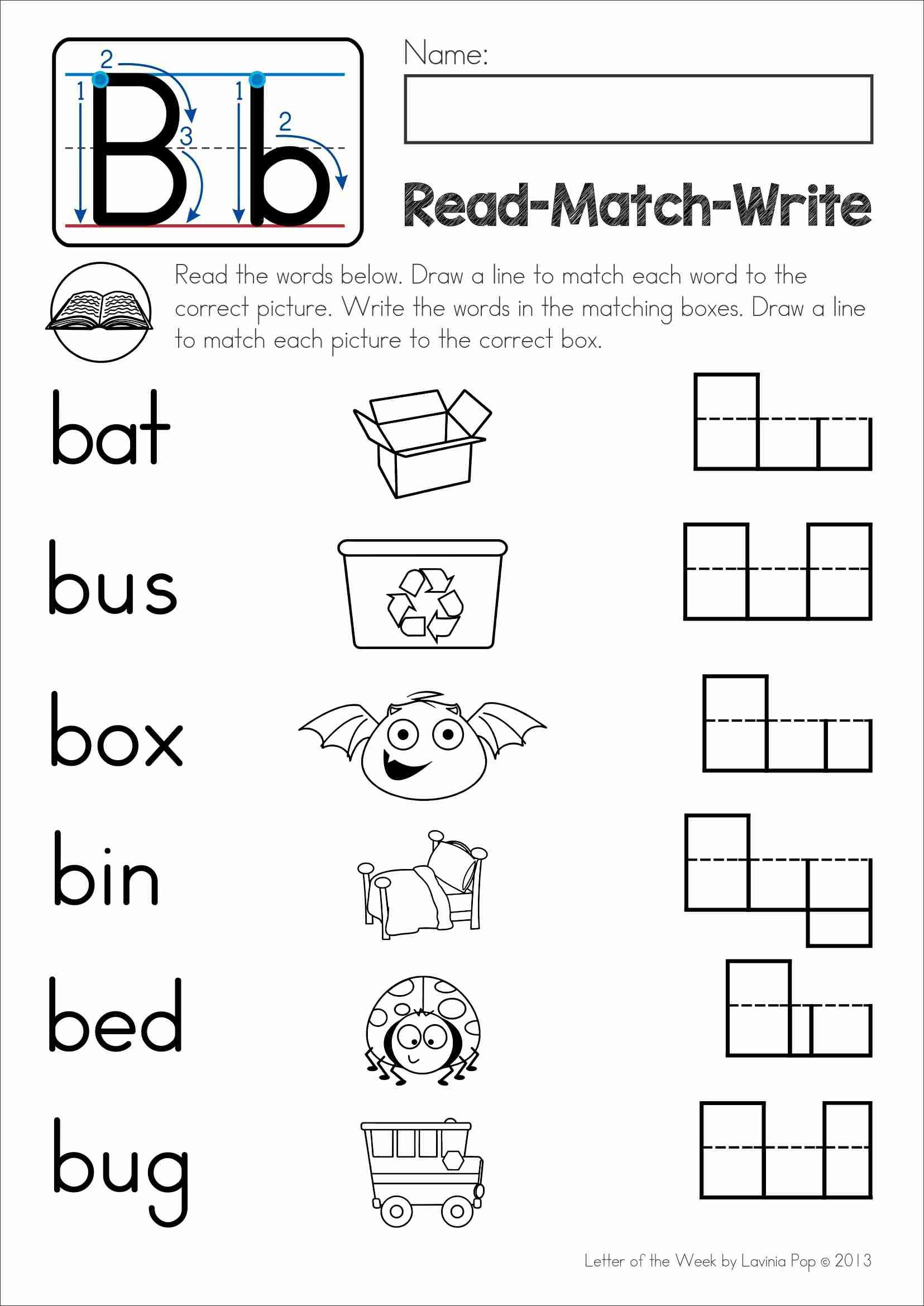 worksheet Jolly Phonics Cursive Writing Worksheets free phonics letter of the week b read match write cvc word alphabet b