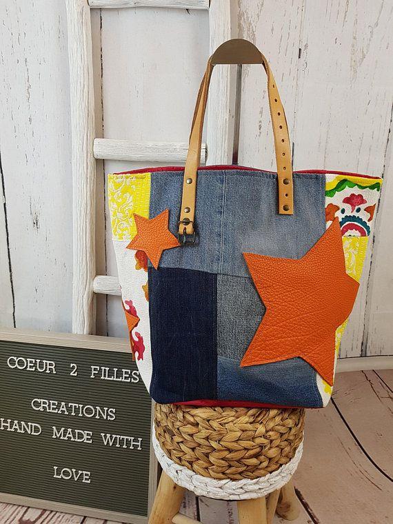 Grand Cabas tendance aux couleurs assidulées | Pinterest | Tasche ...