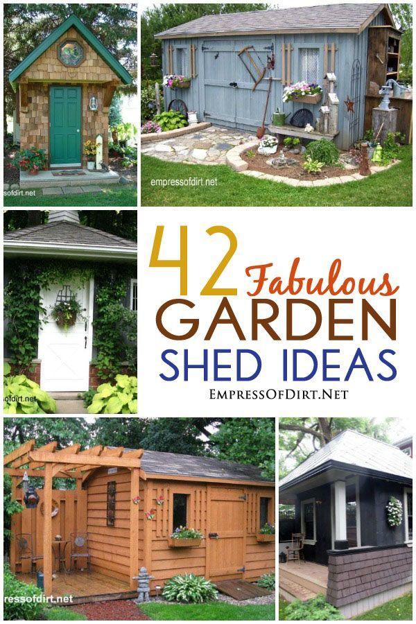 42 Fabulous Garden Shed Ideas (Ich könnte mich gar nicht entscheiden, da sind so viele tolle Hütten. Dankenswerter Weise habe ich schon eine...:o)   )
