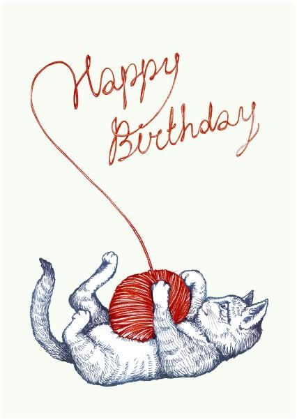 An Awesome Birthday Card From Anna Stankevich Joyeux Anniversaire