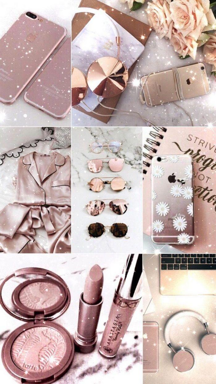 Wallpaper Iphone Rose Gold Glitter Rose Gold Aesthetic Gold