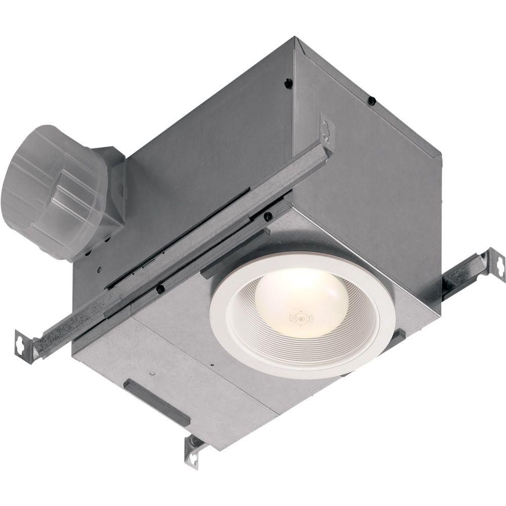 Nutone 70 Cfm Ceiling Bathroom Exhaust Fan With Recessed Light 744nt Bathroom Exhaust Fan Bathroom Fan Light Recessed Ceiling