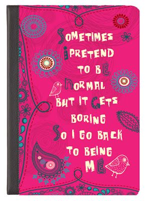 """UrbanDigits Partners with M-edge Whimsical Line of IPad Covers © Denise Urban """"Sometimes I Pretend to Be Normal"""" Collection   http://app.medgestore.com/shop/?sort_by=&page_size=36&theme=Denise&keyword=denise+urban"""