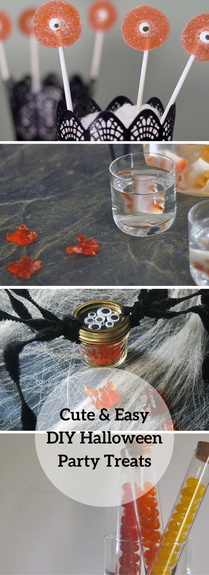 Easy, DIY nobake halloween party treats for kids and
