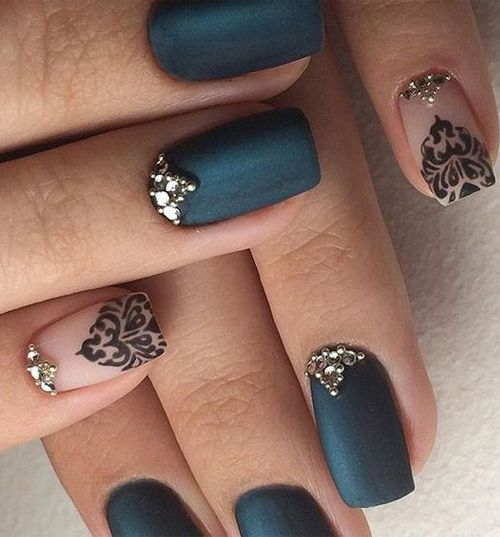 New Brilliant Prom Nail Art Design With Beautiful Jewels To Look