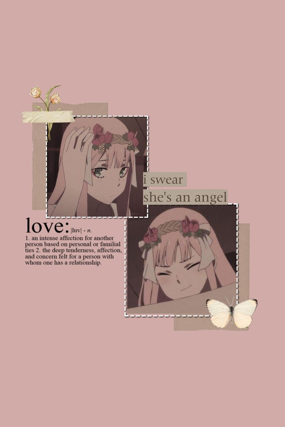 Zero Two Wallpaper Aesthetic Pink Wallpaper Anime Anime Wallpaper Iphone Cool Anime Pictures