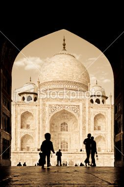 Arch to the Taj Mahal Royalty Free Stock Photo