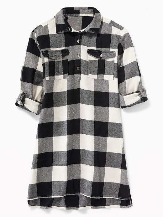 213812d389 Old Navy Plaid Flannel Utility Shirt Dress for Girls | Products ...