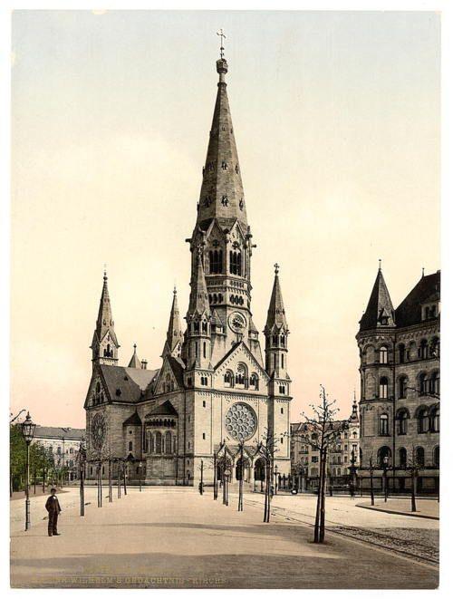 The Kaiser Wilhelm Gedachtniskirche Berlin C Early 1900s German Architecture Berlin Germany