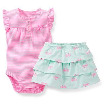 VARIETY NEW Carters Girls 2 Piece Shorts Set