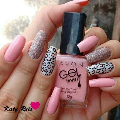 Create this look with Avon Gel Finish Top Coat Shimmer Dazzle Pink. Visit my online store @ www.youravon.com/amartinez8866
